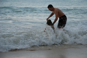 Wave jumping in Kailua